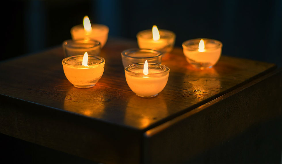 five small candles