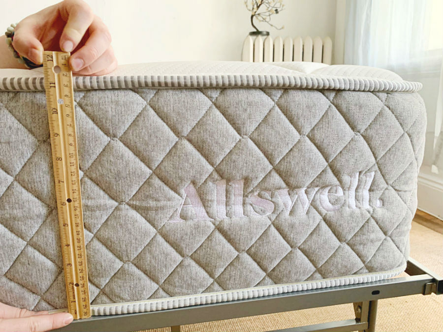 Allswell Luxe Hybrid Is 12 Inches